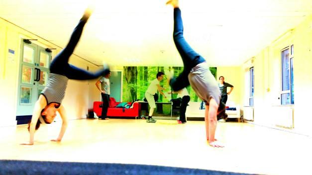 Bath Capoeira Group trainig - turning everything upside down :)