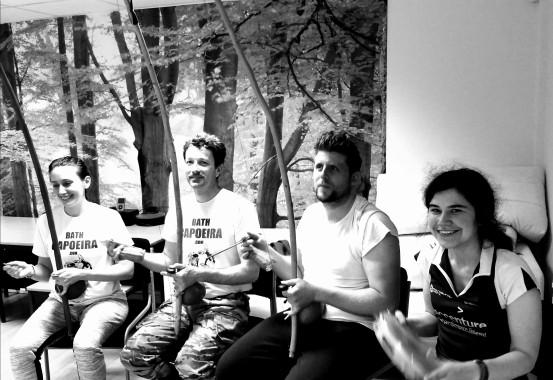 Bath Capoeira Gang getting some music skills